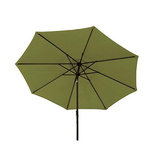 Bliss Hammocks Crank and Tilt Aluminum Market Umbrella, Sage Green, 9-Feet