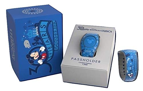 Disney World Hollywood Studios 30th Anniversary Passholder Exclusive LE 1000 MagicBand - Unlinked Blue Mickey Magic Band ()