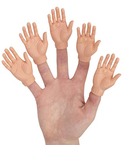 Accoutrements Set of Five Rubber Finger Hands Mini Puppets