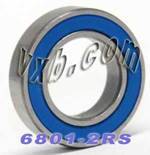 5 PCS 6801-2RS 12x21x5 Ball Bearings Black Rubber Sealed Bearing