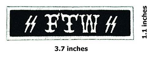 - FTW Black White Patch Funny Slogan Joke Rockabilly Embroidered Biker Patch Biker Iron on/Sew on Patch