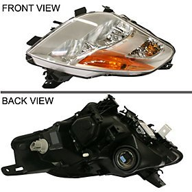 Nissan Altima Coupe Replacement Headlight Assembly HID Type - Passenger (Passenger Side Headlight Assembly Coupe)