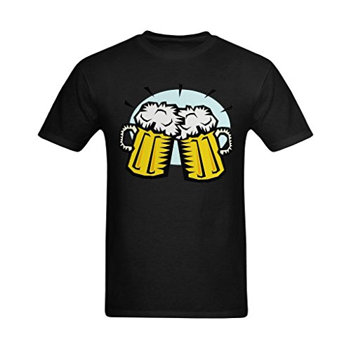 Dream-House Men's Cheers Beer Clipart Design T-Shirt - Emotion Tee Shirt US Size (Happy Halloween Animated Clip Art)