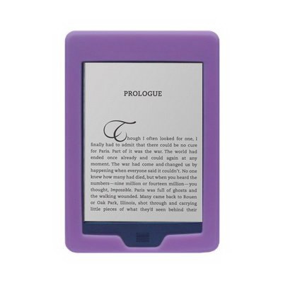 """All New Amazon Kindle Touch 3G + Wi-Fi, 6"""" E Ink Display Silicone Skin Case Gel Cover - Pink"""