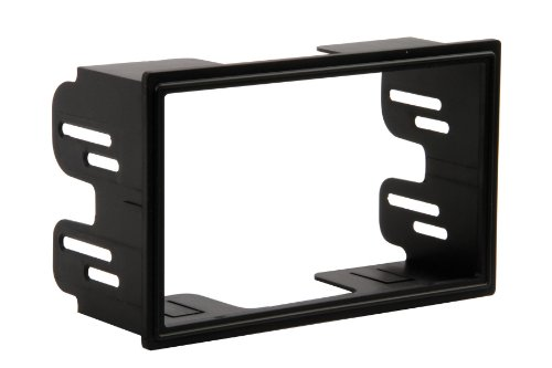 Scosche VW2351B Compatible with 2002-05 Volkswagen Golf/Jetta/Passat ISO Double DIN Dash Kit Black
