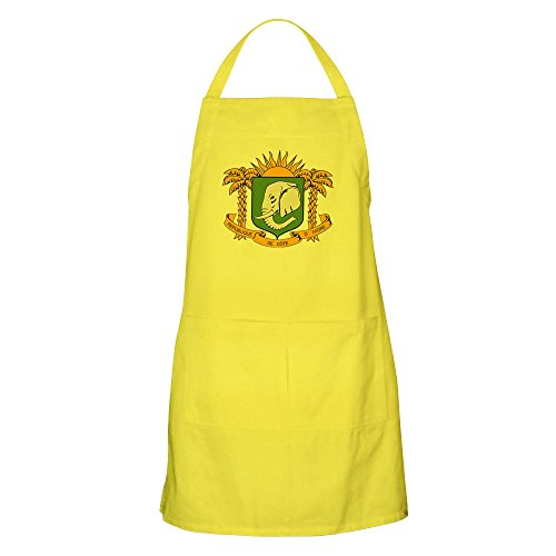 CafePress Ivory Coast Coat of Arms BBQ Apron Kitchen Apron with Pockets, Grilling Apron, Baking Apron -
