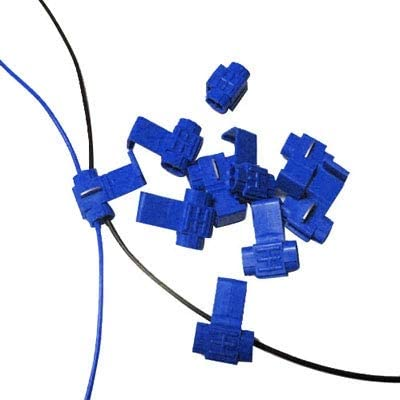 Adapt to Line Diameter: 0.8-2.0mm ZQ House 100 PCS Cable Clip Blue Durable