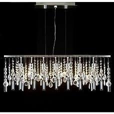 "Modern Contemporary Linear Chandelier Lighting Lamp W/ Crystal H58"" X W38"""