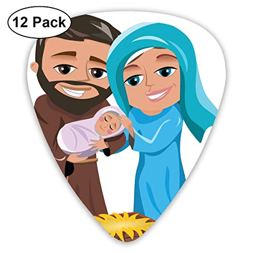 Custom Guitar Picks, Nativity Merry Christmas Cute Guitar Pick,Jewelry Gift For Guitar Lover,12 Pack -