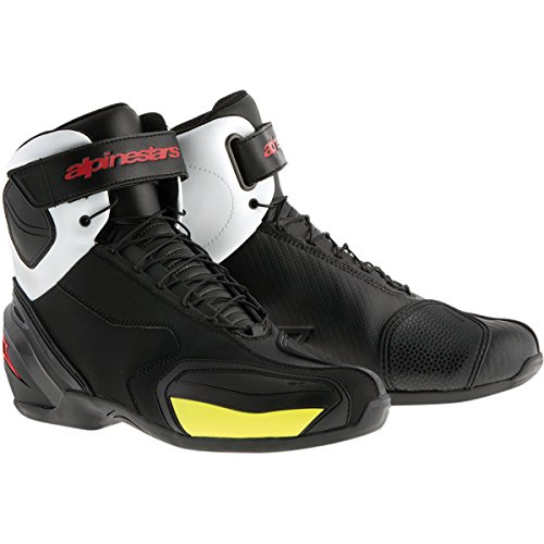 Alpinestars SP-1 Men's Street Motorcycle Shoes - Black/White/Red/Yellow / 47