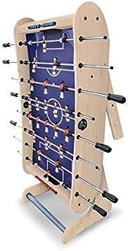 Riley FFT13-4LN - Mesa de Futbolín , Plegable , Alineación: 1-2-5-3 , Porterías integradas , Esquinas Redondeadas , Marcadores , Bolas , 61x160x45 cm , Madera de Haya , Beige: Amazon.es: Juguetes y juegos