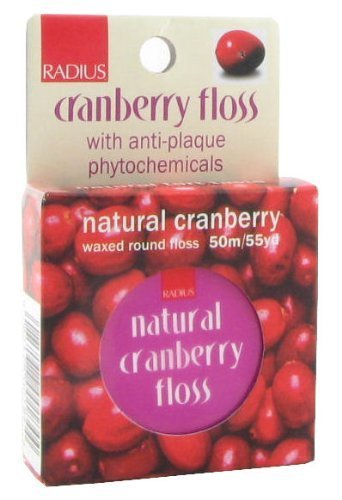 Radius Dental Floss Cranberry Floss 55 yards (Pack of 5)