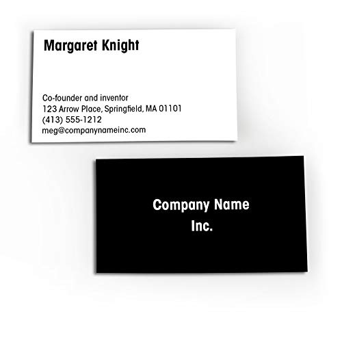 Buttonsmith Custom Basic Black Premium Printed Superfine Business Cards - 3.5