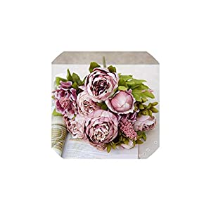 1Bunch Artificial Peony Decorative Party Silk Fake Flowers Peonies for Home Hotel Decor,D 53
