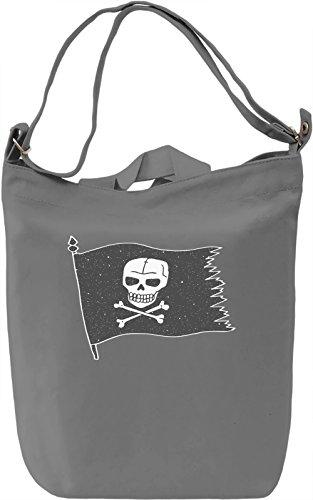 Pirate flag Borsa Giornaliera Canvas Canvas Day Bag  100% Premium Cotton Canvas  DTG Printing 
