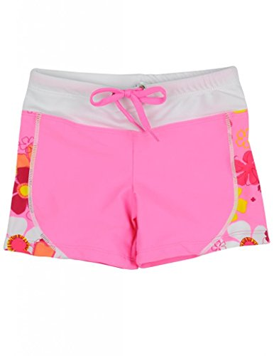 Tuga Girls Swim Short (UPF 50+), Coral, 2/3 yrs