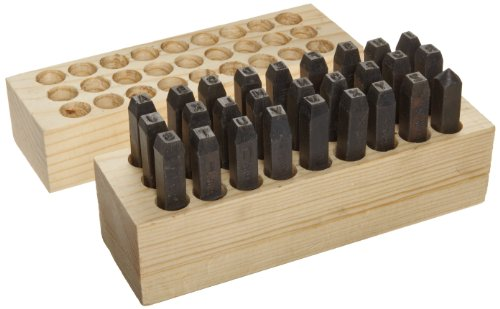 Young Bros 04273 27 Piece Heavy Duty Stamp Letter Set, Steel, 5/32'' Character Size by Young Bros.