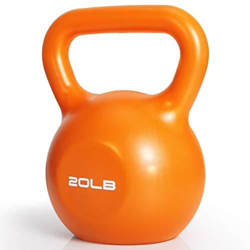 Kettlebell Set, TopMade 10lb 15lb 20lb 25lb 30lb Vinyl Coated Cast Iron Kettlebells Weights Set Exercise Fitness Kettle…