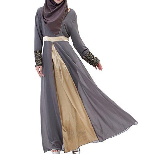 Highdas Frauen Muslim Langarm Kaftan Abaya Kleid Mittleren Osten ...