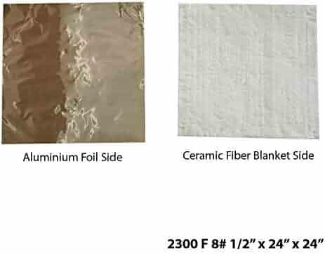 2 x 24 x 36 2300F, 8# Density Kilns Furnaces Glass Work and Chimney Insulation Ovens Ceramic Fiber Blanket