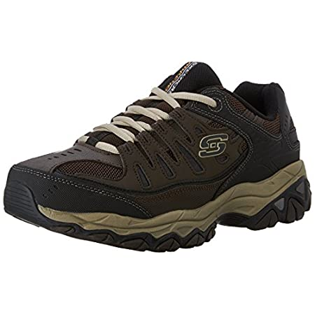 Skechers Sport Men's Afterburn Memory-Foam Lace-up Sneaker