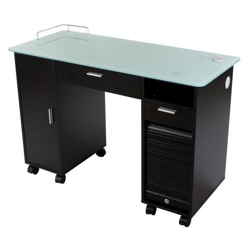 Icarus ''Superb'' Black Manicure Nail Table Station by Icarus