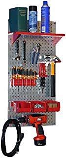 product image for Wall Control 30-WGL-100 GVR Basic Utility Tool Storage Pegboard Organizer with Red Accessories
