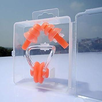 1 set waterproof soft silicone swimming set nose clip ear plug earplug tool UR
