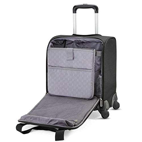 Carry-on luggage dimensions. Samsonite Underseat Spinner with USB Port, Jet Black
