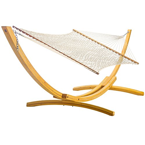 Nags Head Hammocks DuraCord Extra-Wide Hammock - Oatmeal (Duracord Outdoor Rope Hammock)
