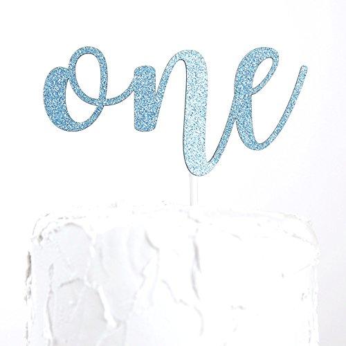 NANASUKO 1st Birthday Cake Topper - one - Premium quality Made in USA (Baby Blue)