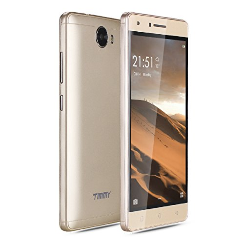 5.0' Phone Unlocked Dual Sim Quad Core 8GB Android 5.1 Cellphone Gold by TIMMY