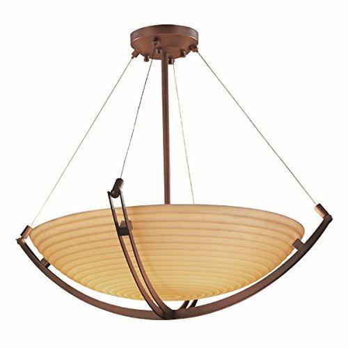 Justice Design Group Lighting PNA-9727-35-SAWT-DBRZ-LED6-6000 Porcelina-Crossbar 55