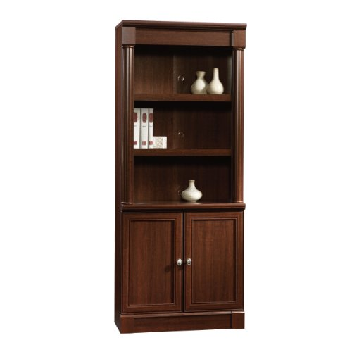 Sauder Palladia Library with Doors, Select Cherry by Sauder