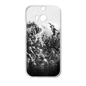 HTC One M8 Cell Phone Case White al95 avengers marvel hero ultron flare art fight dark BNY_6784422