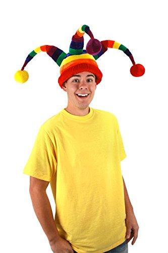 elope Rainbow Wacky Jester - Ski Jester Hat