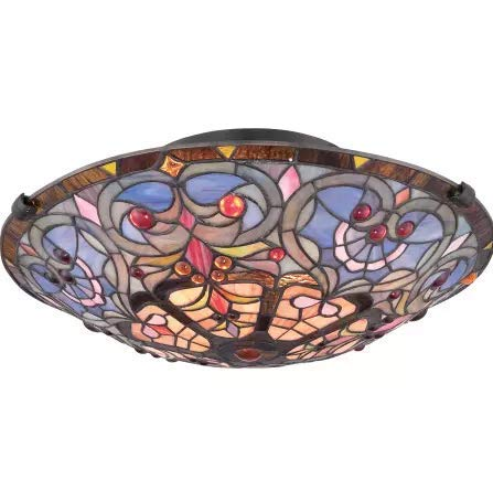 Outdoor Lighting Fixtures Stained Glass in US - 2