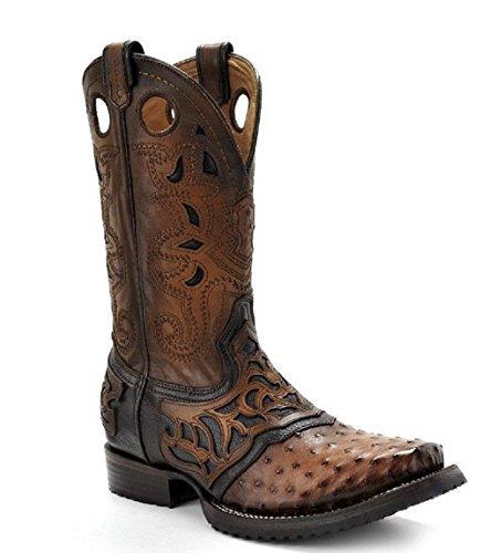 Ostrich Brandy (Cuadra Ostrich Rodeo Western Boots 2I03A1 (10 W, Fl Brandy))