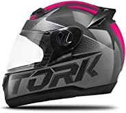 Pro Tork Capacete Evolution G7 58 Preto/Rosa