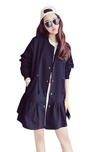 Trenca Abrigo Negro Para Dabag Mujer YwfP5Wq