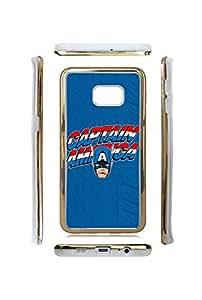 TPU Samsung Galaxy S6 Edge Plus Funda Case for Man for Captain America Cartoon , Ultra Slim Anti-drop Phone Funda Case Cover for Samsung Galaxy S6 Edge Plus