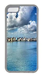 City waterfront TPU Hard Plastic Case for iPhone 5C - Transparent