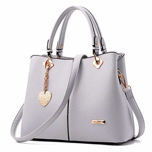 La moda señoras bolso bandolera bolsos casual, gris Gris