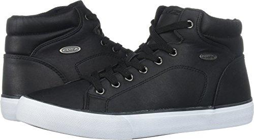Lugz Men's King LX Sneaker, Black/White, 9 D US (High Top Mens Black Shoes Leather)