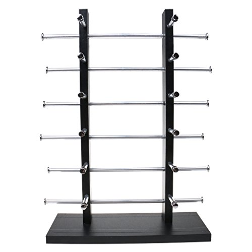 gazechimp Tabletop Solid Wood Eyewear Display Rack, Double Tower Black (Holds 6/8/10/12 Pairs) - ()