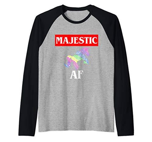 Majestic AF Unicorn Raglan Baseball Tee