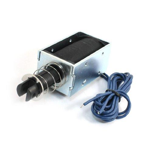 (Uxcell a14010700ux0215 Spring Plunger Magnet Electromagnet Solenoid, DC 24V, 1.8W, 9 kg, 19.8)
