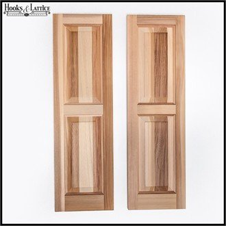 15in. Wide x 50in. High - Cedar Two Panel Exterior Shutters (pair) by Windowbox