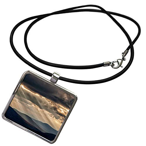 3dRose Danita Delimont - Scenics - USA, New Hampshire, White Mountains, Sunbeams Light The Valley - Necklace with Rectangle Pendant (ncl_314931_1) ()