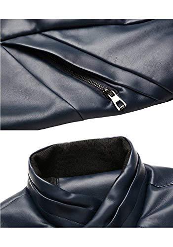 Uomo Vintage Giacca Cappotto Sportiva Blu Da Tempo Per Il Libero 175OqS